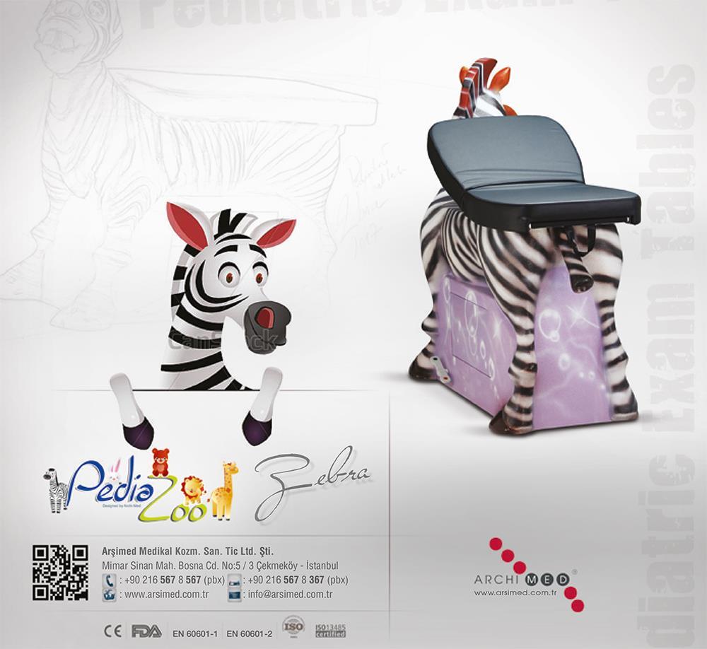 Zebra Figürlü Pediatrik Muayene Masası