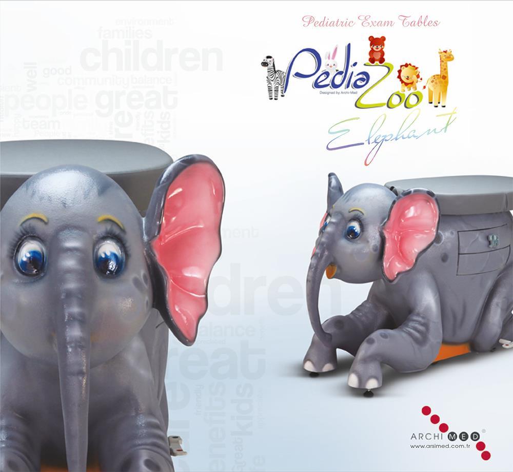 Fil Figürlü Pediatrik Muayene Masası